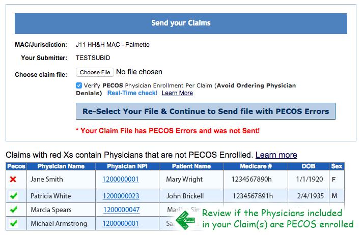 PECOS Search | PECOS verification - Episode Alert