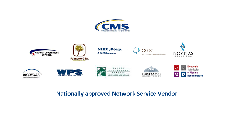 sceenshot of all the Medicare Administrative Contractor provider nation wide logos
