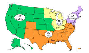 map of the usa and all of the mac's DME jurisdictions