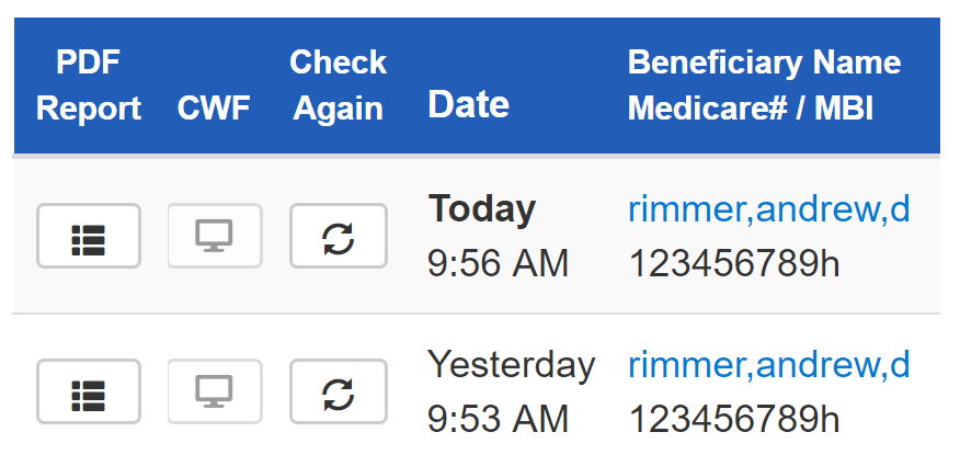 episode alerts medicare check patient screen